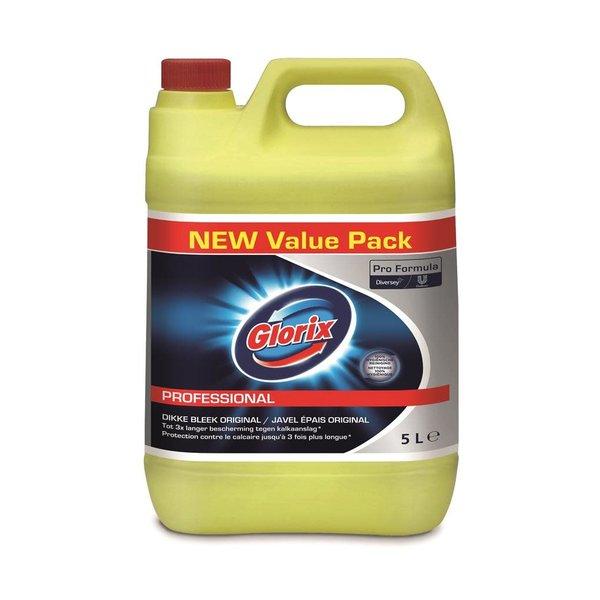 Glorix Pro Formula Toiletreiniger Dikke Bleek Original (met chloor) 5L