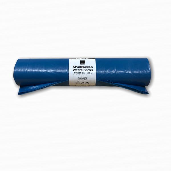Poly-Line Afvalzakken T60 LDPE 80 x 110 cm. 130L Blauw