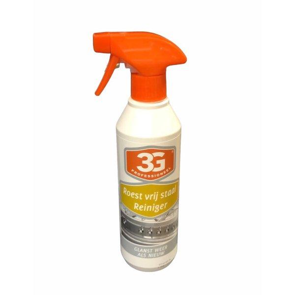 3G Professioneel RvS Reiniger Spray 500 ml.