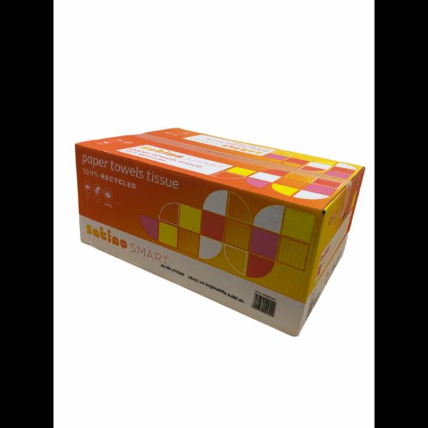 Satino Smart Handdoekenpapier V(Z)-Vouw Tissue 2-laags 24x22cm