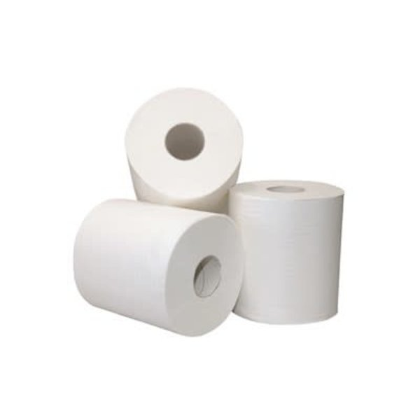 Euro Products Poetspapier midi 2-laags Recycled Wit (met koker) 6 rollen