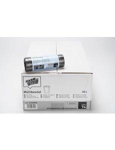Pedaalemmerzakken HDPE 50x60cm 5my grijs 40 Rollen