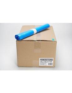 Powersterko Afvalzakken T25 HDPE 70 x 110 cm. 120L Blauw