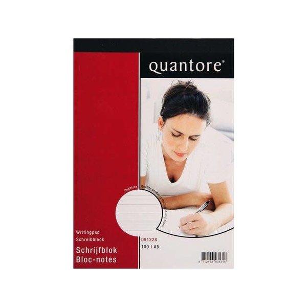 Quantore Quantore schrijfblok A5 gelinieerd Pak 5 stuks FSC
