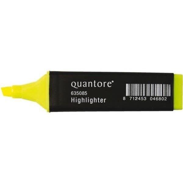 Quantore Quantore markeerstift geel doos 10 stuks schrijfbreedte 2-5 mm.