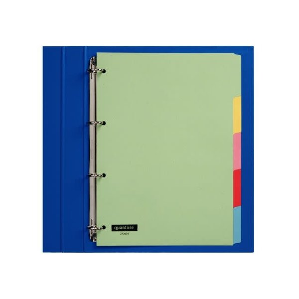 Quantore Quantore tabblad A4 karton 4-rings set 5 vel gekleurd