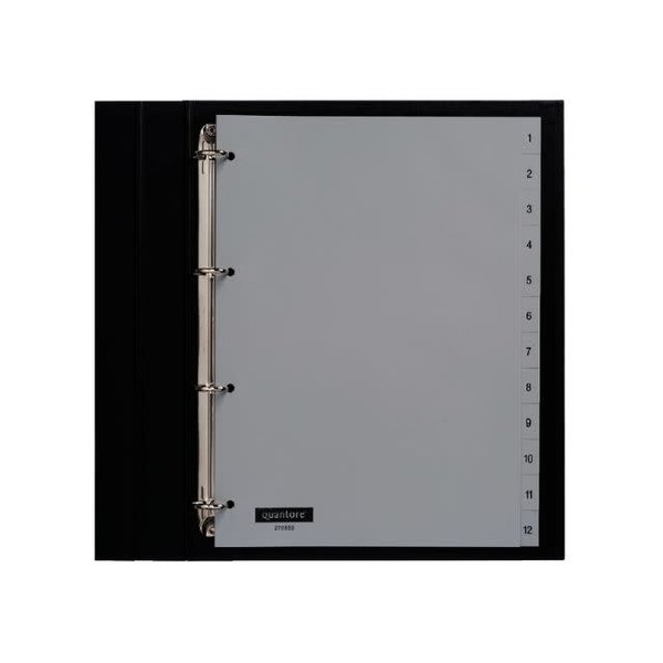 Quantore Quantore tabblad A4 PP 4-rings set 12 vel 1 t/m 12