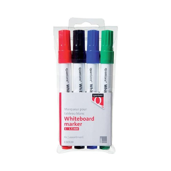 Quantore Quantore whiteboardmarkers 4 kleuren pak ronde punt