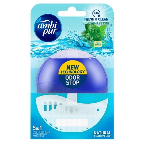 Ambi-Pur Flush toiletblok Fresh Water & Mint houder en vulling