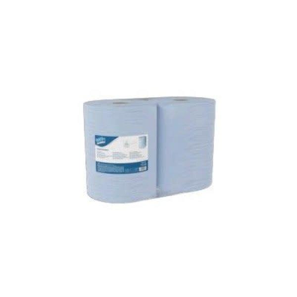 Clean and Clever Industrieel poetspapier blauw gerecycled 2 lgs. 38 x 34 cm. 1.000 doek pak à 2 rollen