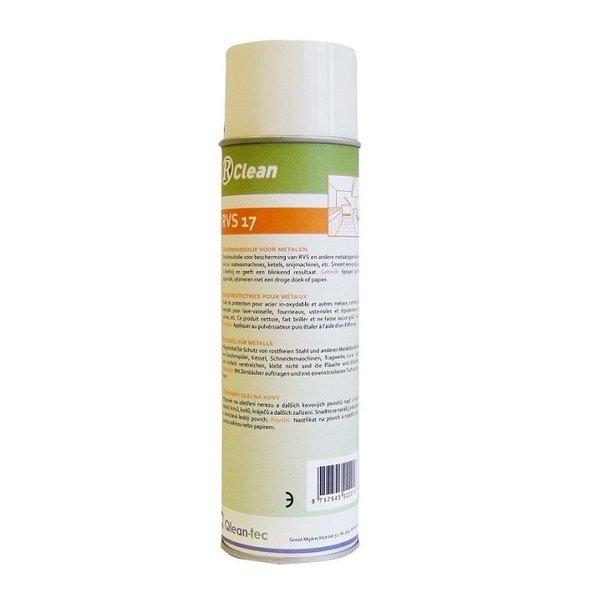 R-Clean RVS onderhoudsmiddel spuitbus 500 ml.