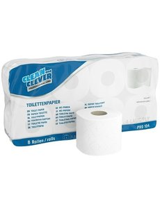 Clean and Clever Toiletpapier hoogwit cellulose 4 lgs. 150 vel Pak 9x 8 rol