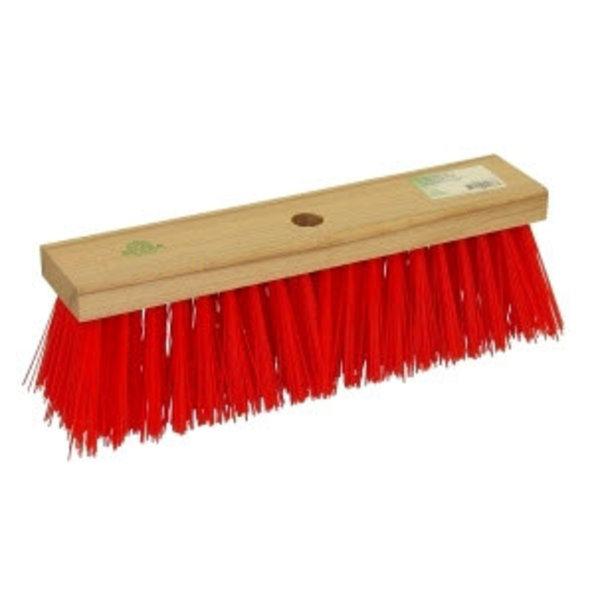 Straatbezem PVC Rood 35 cm.