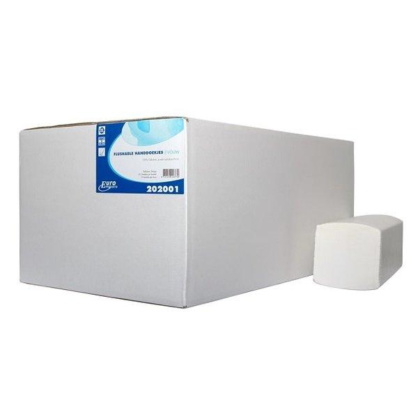 Euro Products Euro handdoek Z-vouw cellulose wit doorspoelbaar 2lg. 25x21,5cm