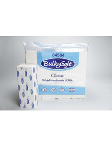 C. C. s.p.a. BulkySoft V-vouw handdoek Ultra cellulose 84584 2lg. 21x24cm