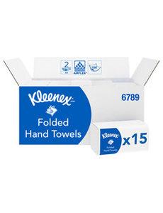 Kimberly Clark Kleenex Multifold Handdoeken Ultra Airflex Wit 2lg. 21.5x21.0cm