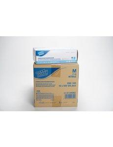 Handschoen Nitrile  Ongepoederd M Blauw 100 st.