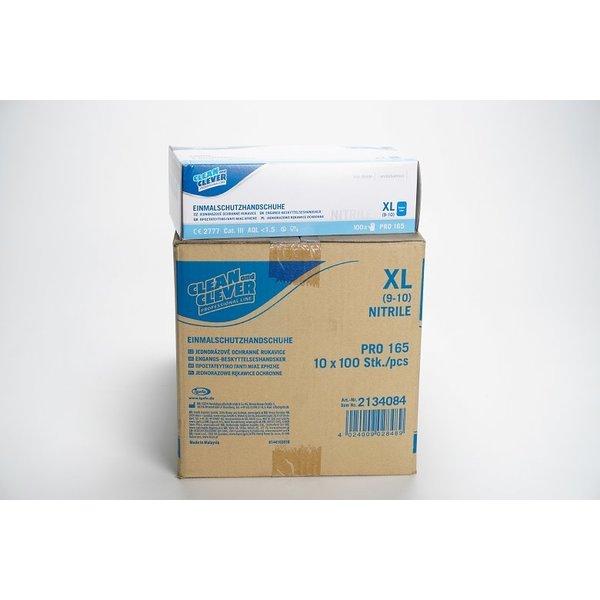 Handschoen Nitrile CAT III - poeder vrij XL Blauw 10x 100 st.