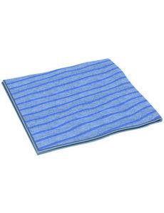 Clean and Clever Microvezeldoek 40x40cm blauw gestreept p/st.