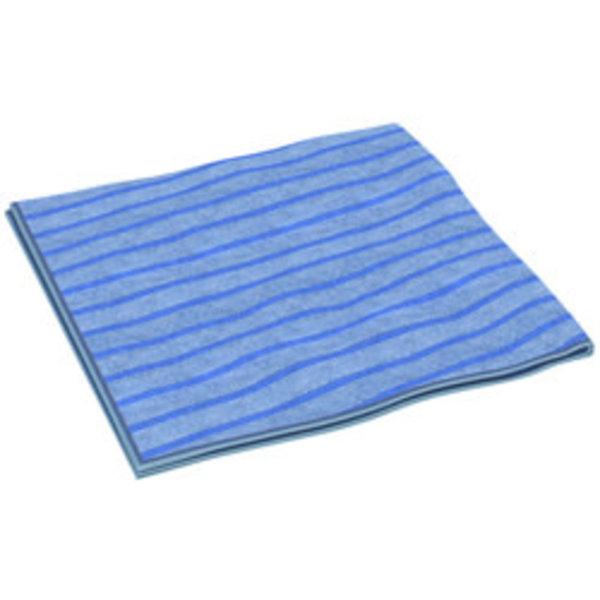 Clean and Clever Microvezeldoek 40x40cm blauw plus multifunctioneel gestreept
