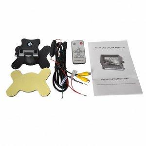 Achteruitrijcamera set 7 inch met camera in kentekenplaathouder