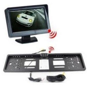 ARC Draadloze set met camera in kentekenplaathouder en 4.3 inch monitor.