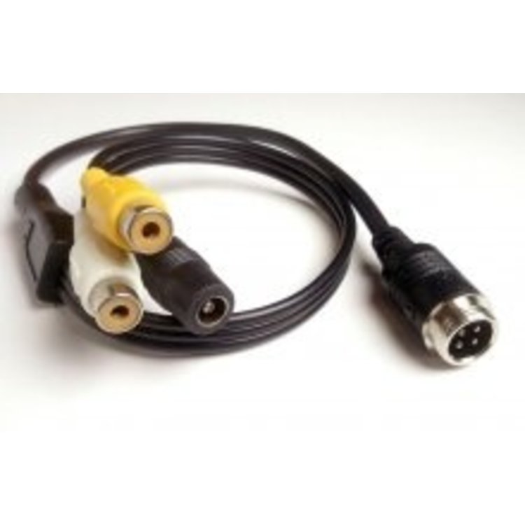 ARC 4-pin male DIN naar RCA (tulp) female adapter kabel + power