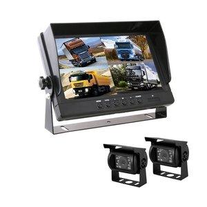 Professionele set met 9 inch scherm en 2  achteruitrijcamera's