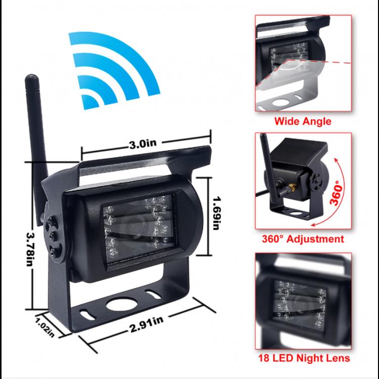 Draadloos 7 inch achteruitrijcamera systeem met 1 camera