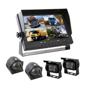 Professionele set met 9 inch scherm en 4 camera's