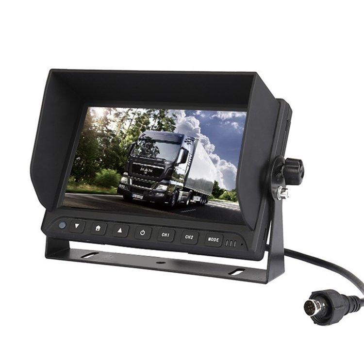 Professioneel 7 inch HD Achteruitrijcamera-systeem met twee camera 's