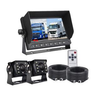ARC Professioneel 7 inch HD Splitscreen  Achteruitrijcamera-systeem met 2 camera 's