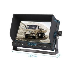 ARC Professioneel 7 inch HD Achteruitrijcamera-systeem met twee verwarmde camera 's  + microfoon