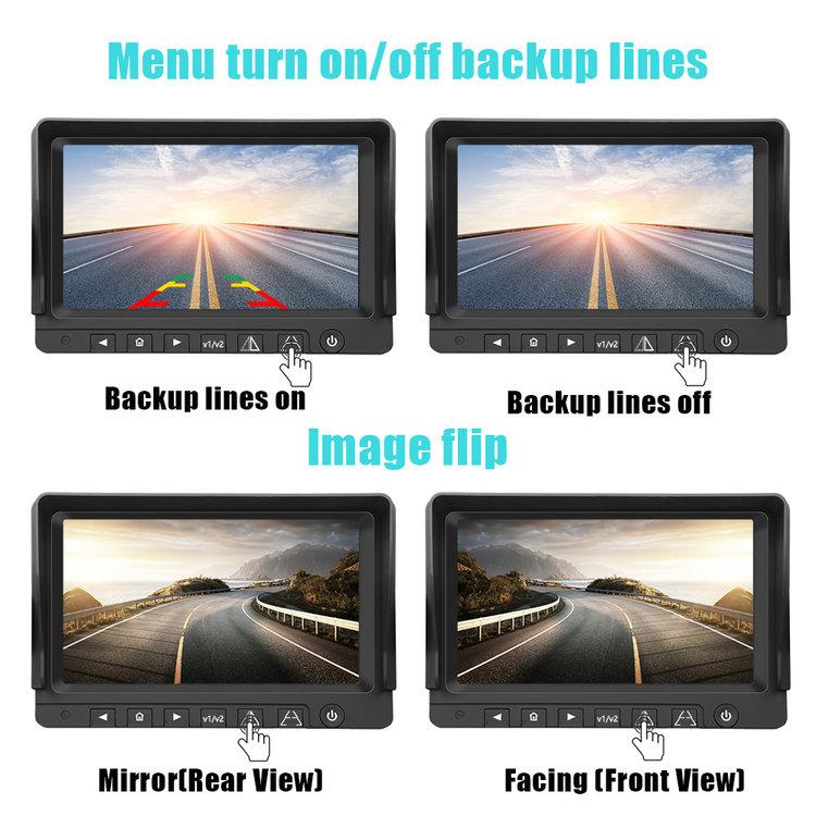ARC Professioneel 9 inch HD Achteruitrijcamera-systeem met kleuren-nachtzicht