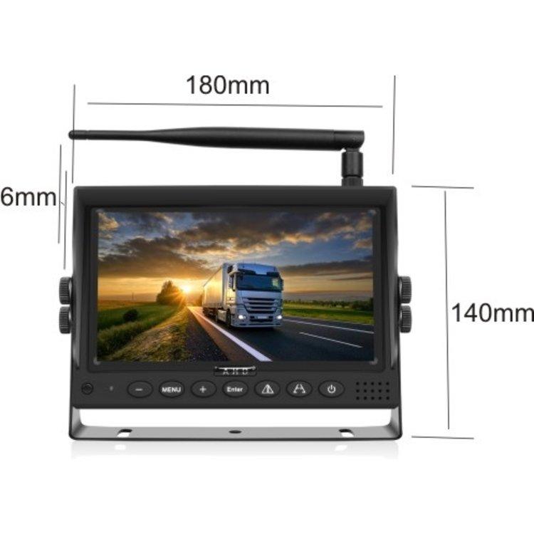 ARC Draadloos HD digitaal 7 inch achteruitrijcamerasysteem met 1 achteruitrijcamera