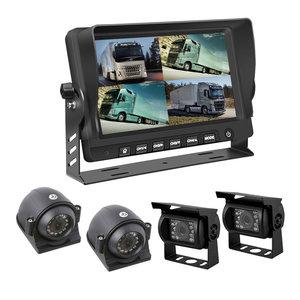 ARC Professioneel 9 inch HD Quad View Achteruitrijcamera-systeem met verwarmde camera 's + DVR
