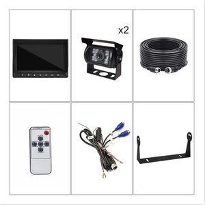 ARC Professioneel 7 inch HD Splitscreen  Achteruitrijcamera-systeem met 2 verwarmde camera 's