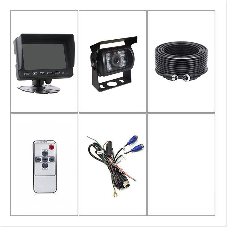 ARC Professioneel 5 inch HD Achteruitrijcamera-systeem met verwarmde camera en geluid
