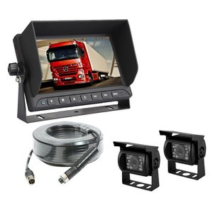 ARC Professioneel 9 inch HD Achteruitrijcamera-systeem met 2  verwarmde camera 's