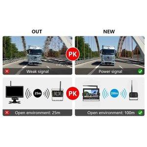 ARC Draadloos HD digitaal 7 inch achteruitrijcamerasysteem met 2  achteruitrijcamera 's