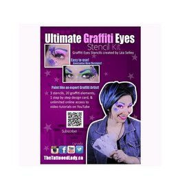Graffiti Eyes Ultimate GraffitiEyes Face Painting Stencil Kit