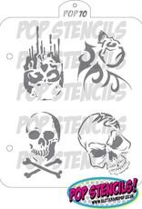 PopStencils PopStencils Skull stencil