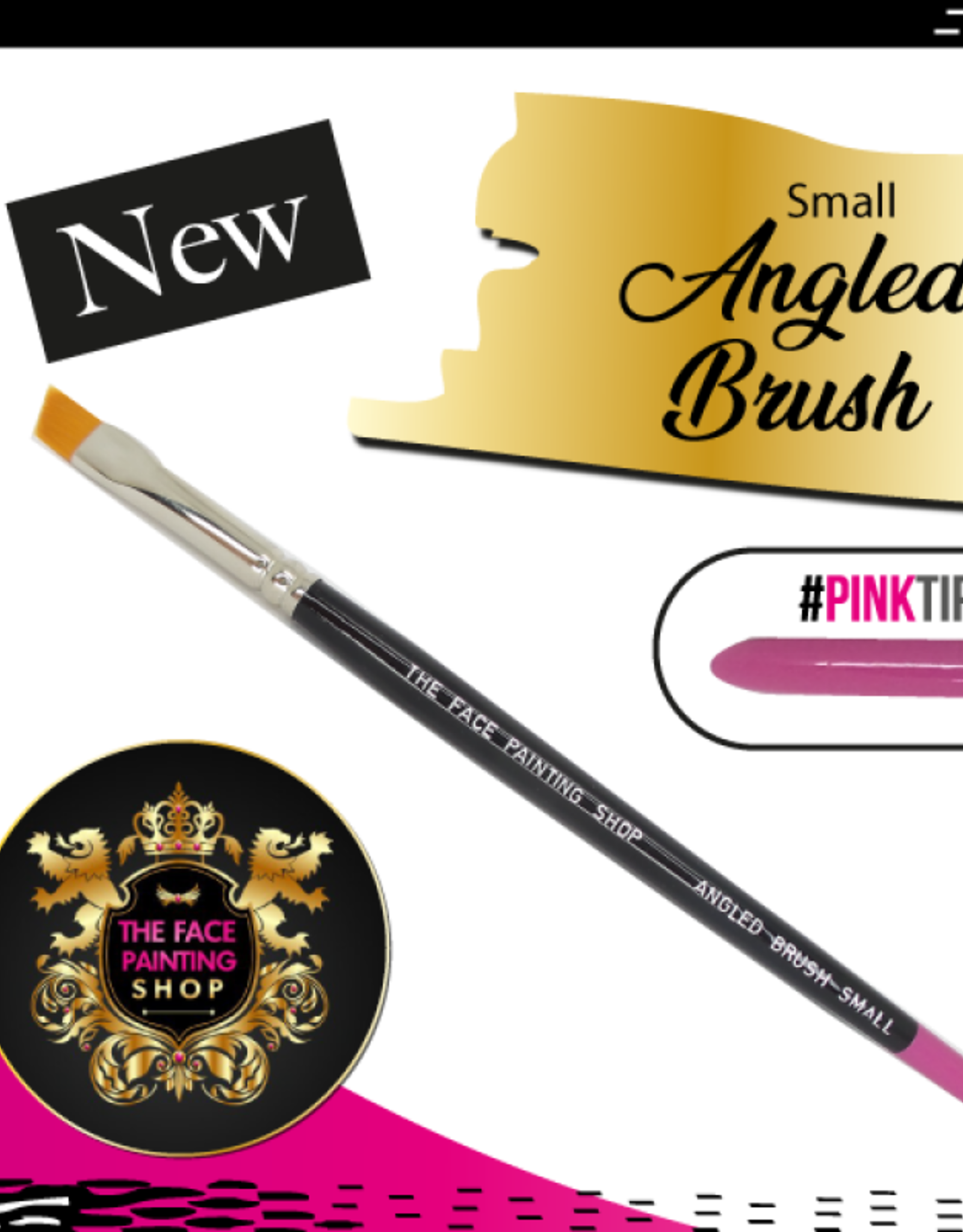 The Facepainting Shop Small Angled Brush
