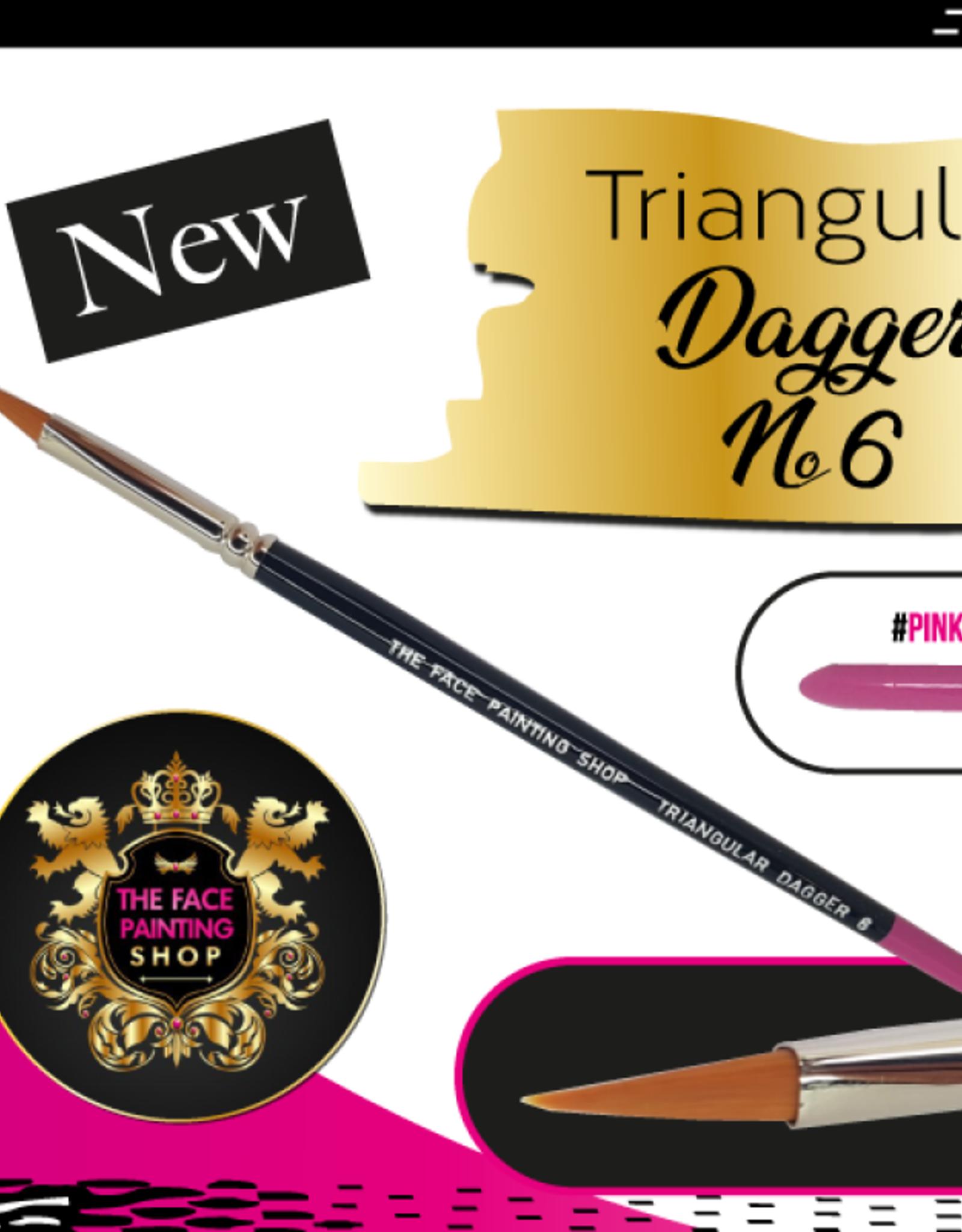The Facepainting Shop Triangular Dagger Brush 6