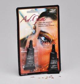 Mehron AdGem - Latex Free Adhesive w/12 Rhinestones (3,5 ml)