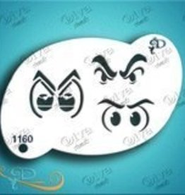 DivaStencils 1160 Diva Stencil Angry Eyes