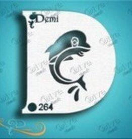 DivaStencils 264 Diva Stencil demi dolphin