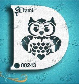 DivaStencils 243 Diva Stencil demi owl
