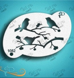 DivaStencils 1082 Diva Stencil Three little Birds