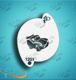 DivaStencils 1201 Diva Stencil Lightning Car